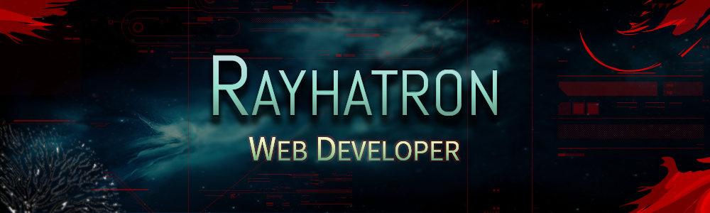 Rayhatron web developer banner