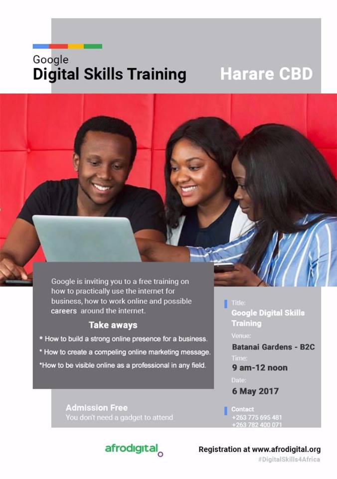 Google Digital Skills Training flyer